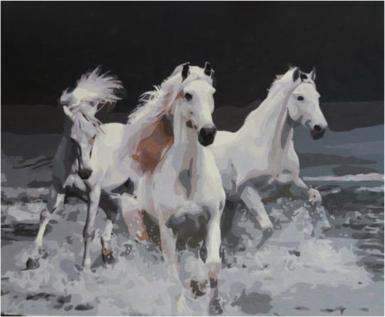 Three Horses by Joan M