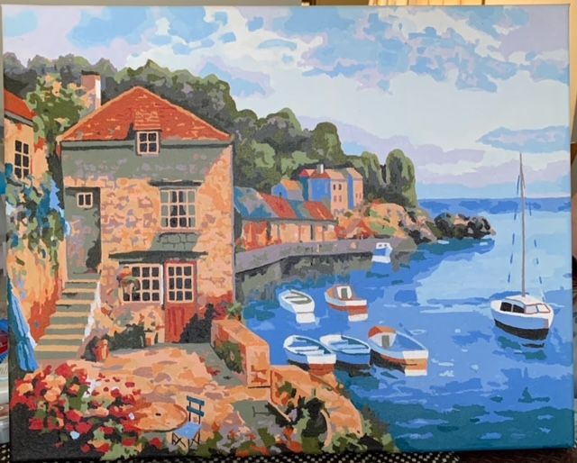 Paint by Numbers - Town in the Riverside by Bob McP