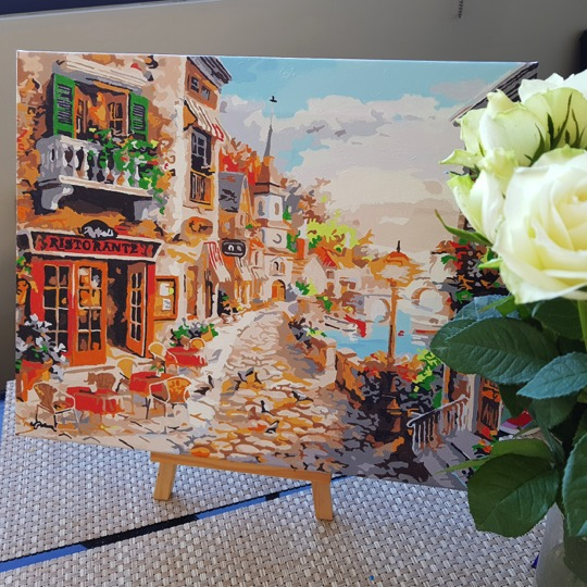 Paint by Numbers - Town in Italy by Evgeniya K