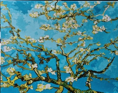 Paint by Numbers - Van Gogh Blossoming Almond Tree by Tania C