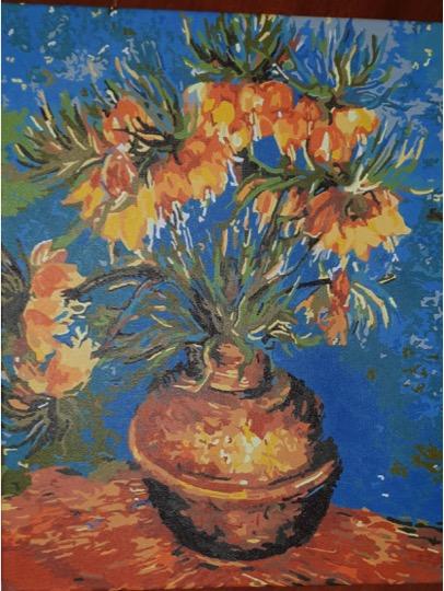 Van Gogh Imperial Fritillaries by Lynda