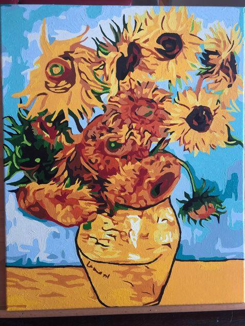Paint by Numbers - Van Gogh Sunflowers by Linda S