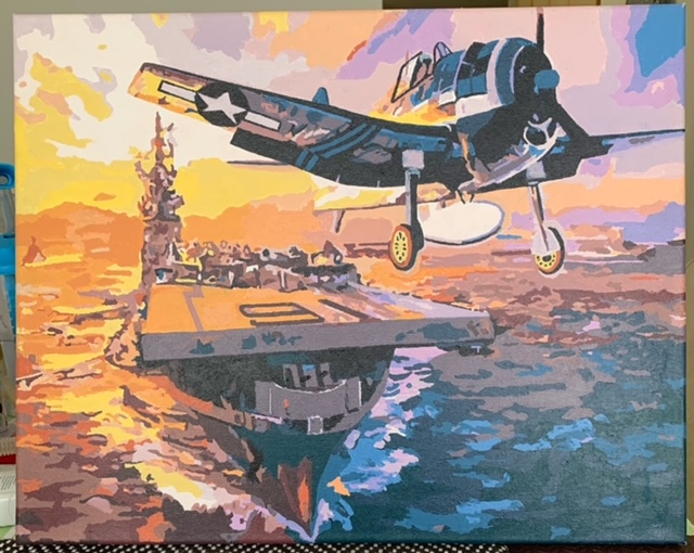Paint by Numbers - Warship and Planes by Bob McP