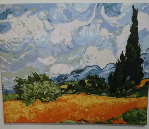 Wheat Field with Cypresses by Lynda