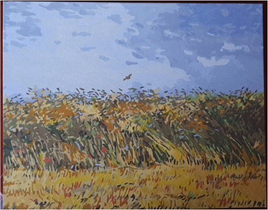 Van Gogh's Wheatfield with a lark by Lynda