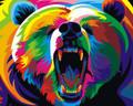 Colourful Bear