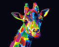Colourful Giraffe 2 Paint by Numbers