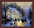 Painting by Numbers Kit - 40x50cm - Romantic Winter