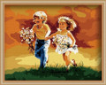Painting by Numbers Kit - 40x50cm - Brother and Sister