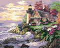 Painting by Numbers Kit - 40x50cm - Sunset Light House