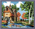 Painting by Numbers Kit - 40x50cm - Country Flour Mill House