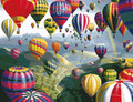 sky hot air balloons