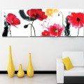 Love Language Red Flowers Painting by Numbers 3 sets