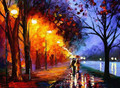 Romantic Walk Under Rain