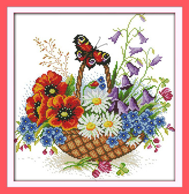 Flower Basket and Butterfly