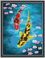 Yellow Red Koi Fish 30x40cm paint by numbers.