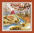 Cross Stitch Kits Autumn Village