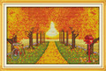 Cross Stitch Kits - Golden Leaves Trees
