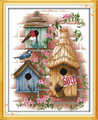 Cross Stitch Kits - Bird Log Cabin