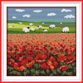Cross Stitch Kits - Red Poppy and Sheep