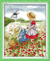 Cross Stitch Kits - Two Girls in Poppy Field
