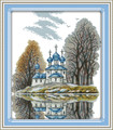 Cross Stitch Kits - Blue Castle by the Water