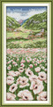 Cross Stitch Kits - White Poppy Field