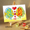 Two Kissing Fish paint by numbers kit.