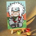 White Spikey Hair Ninja paint by numbers