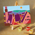 City Rooftop View Mini DIY Painting kit