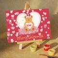 Christmas Love Bear Mini DIY Painting kit