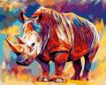 Colourful Rhino