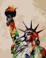Colourful Liberty Statue
