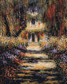 Garden Path at Giverny by Monet