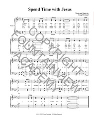 Spend Time With Jesus - Piano Sheet Music