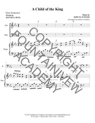 A Child of the King - Piano Sheet Music