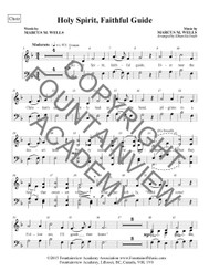 Holy Spirit, Faithful Guide - Score and Instrumental Parts