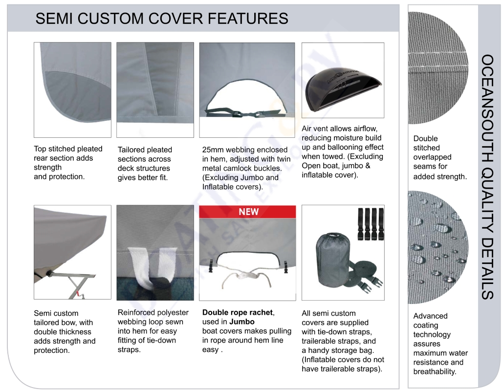 Semi Custom Boat Cover Features