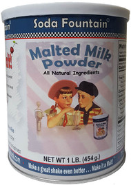 Malted Milk Powder 1 lb Canister