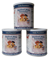 3 Pack of 1 lb. Malted Milk Powder
