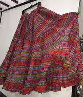 Rainbow Lurex Skirt Red 32 Yards