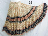 Hand Block Printed Skirt  #38