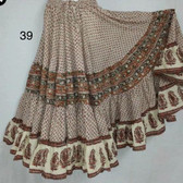 Hand Block Printed Skirt  #39