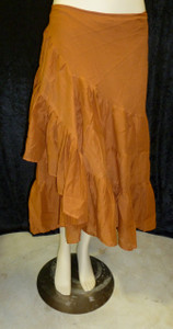Beautiful Half Wrap Skirt Copper