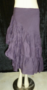 Beautiful Half Wrap Skirt Eggplant