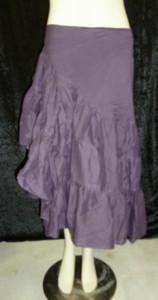 Beautiful Half Wrap Skirt Eggplant