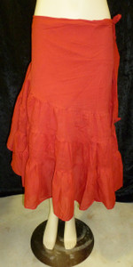 Beautiful Half Wrap Skirt Red