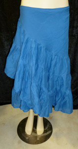 Beautiful Half Wrap Skirt Cobalt