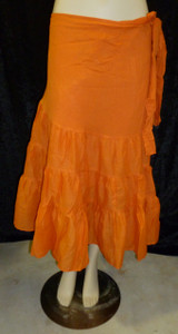 Beautiful Half Wrap Skirt Orange