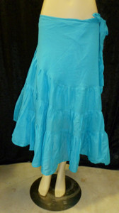 Beautiful Half Wrap Skirt Turquoise